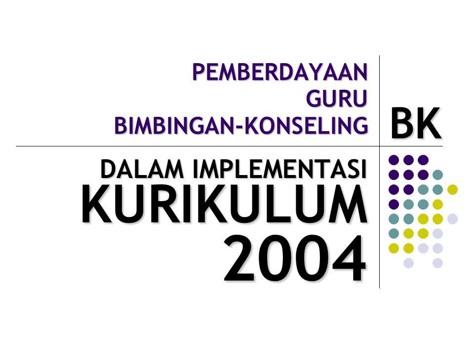 PEMBERDAYAAN GURU BIMBINGAN-KONSELING DALAM IMPLEMENTASI KURIKULUM KURIKULUM2004 BK