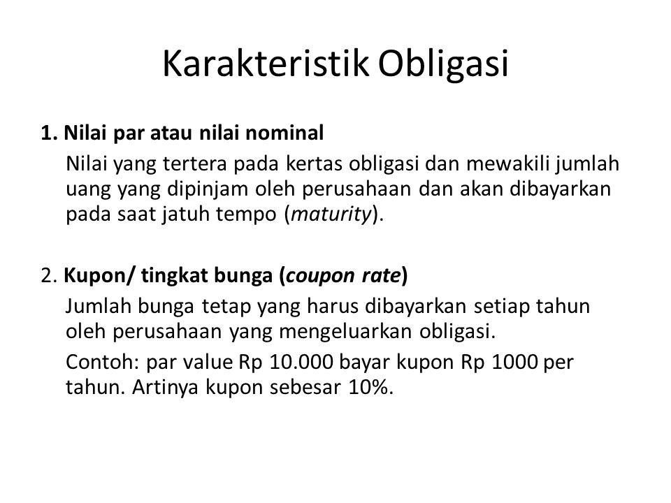 Karakteristik Obligasi 1.