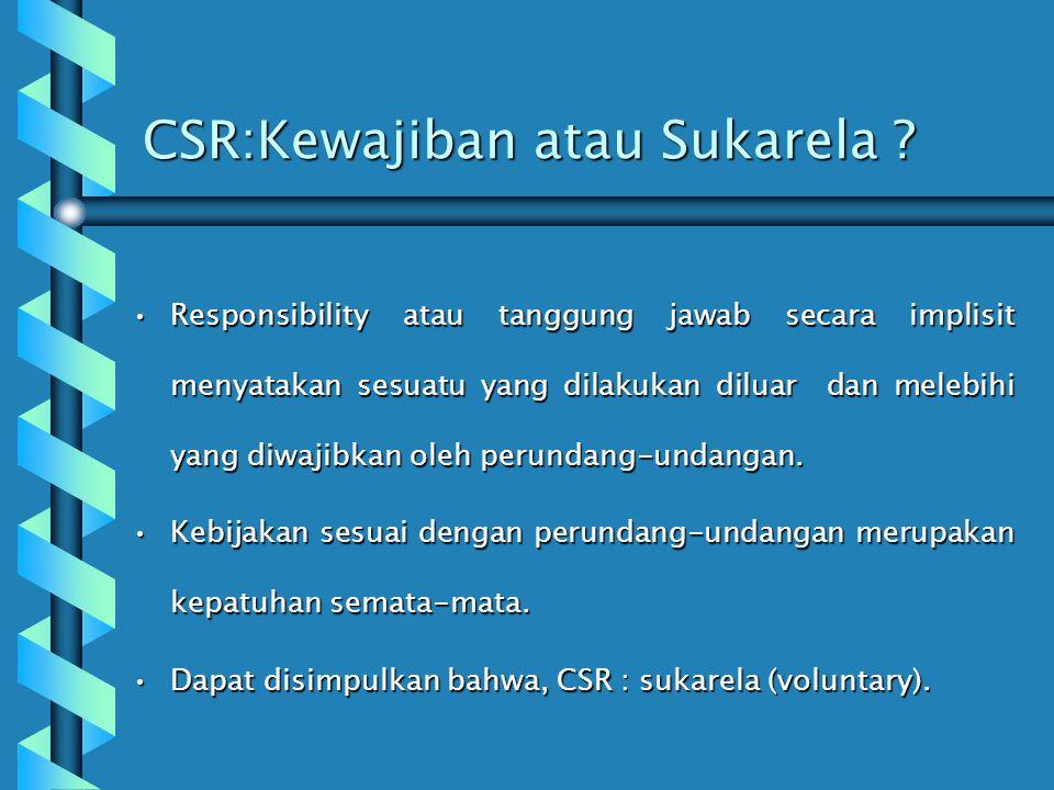 Faktor yang Mempengaruhi Implementasi CSR Komitmen Pimpinan PerusahaanKomitmen Pimpinan Perusahaan Ukuran dan Kematangan Perusahaan (kewajiban moral)U
