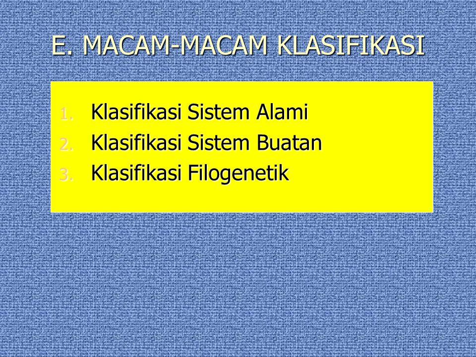 D.DASAR-DASAR KLASIFIKASI 1. Berdasarkan Persamaan 2.