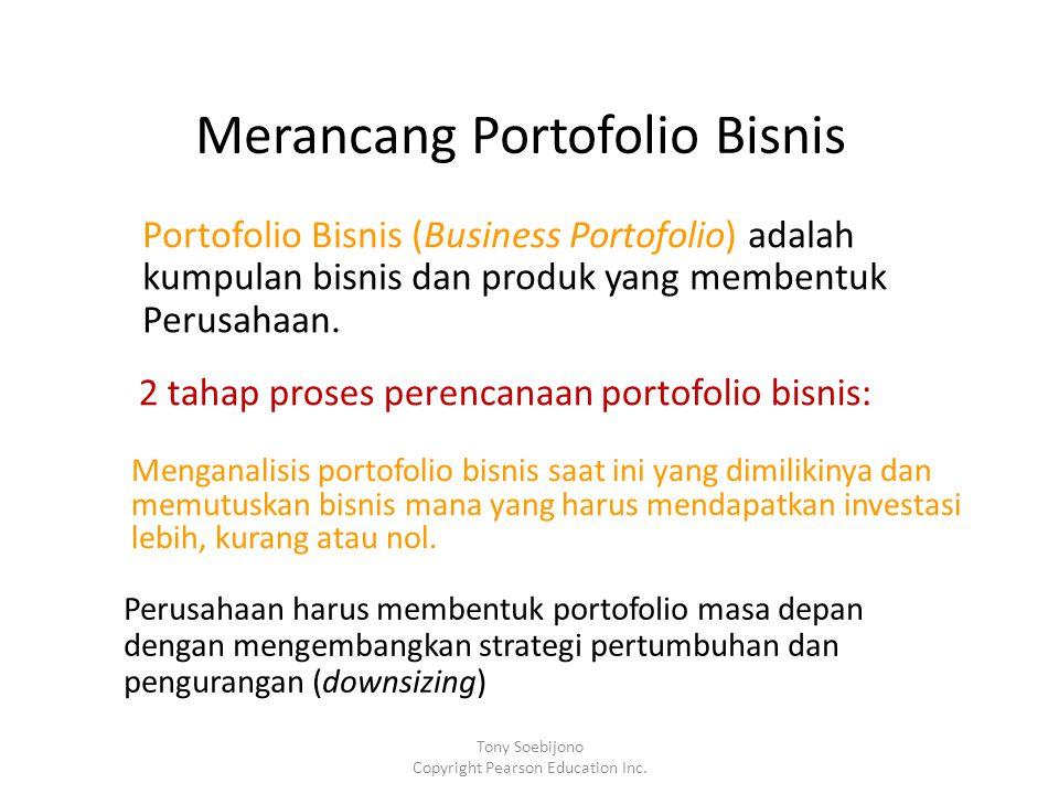 Merancang Portofolio Bisnis Portofolio Bisnis (Business Portofolio) adalah kumpulan bisnis dan produk yang membentuk Perusahaan.