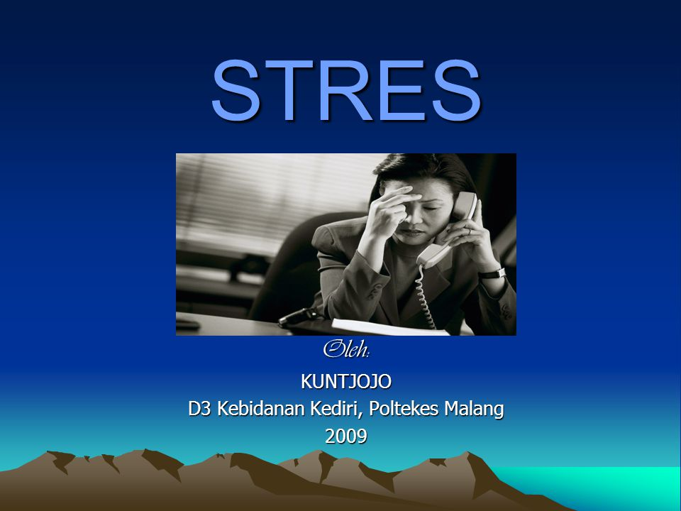 2.Stress: the human reaction to events in our environment  Eustress: Good stress (getting into college, getting engaged, winning the lottery)  Distress: Stress from a bad source (difficult work environment, overwhelming sights and sound, threat of personal injury) 9/1/201412Designed by Kuntjojo