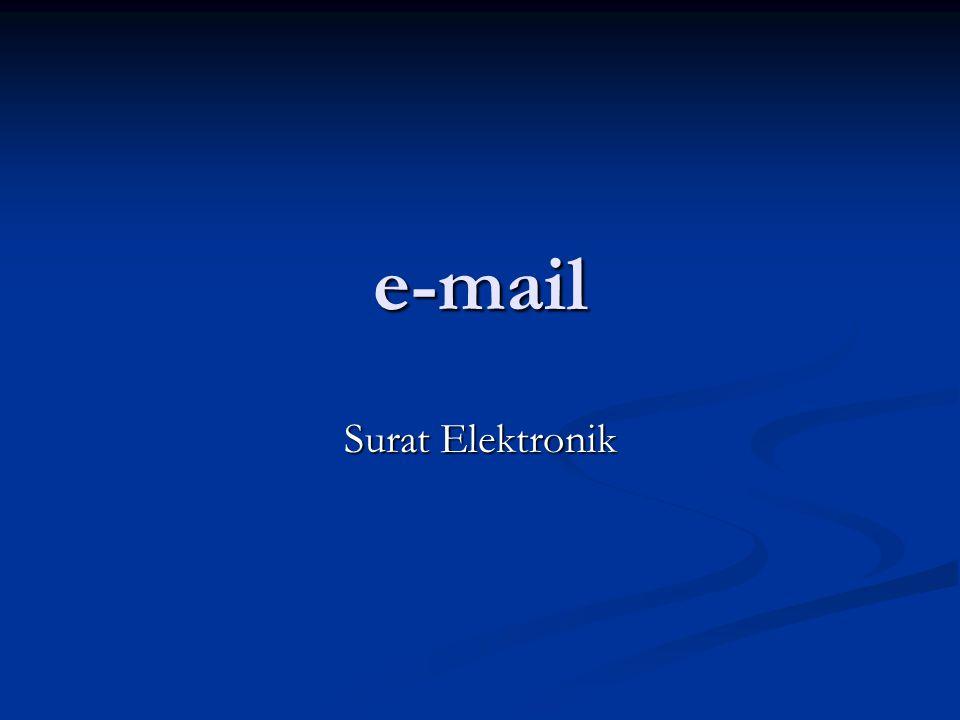e-mail Surat Elektronik