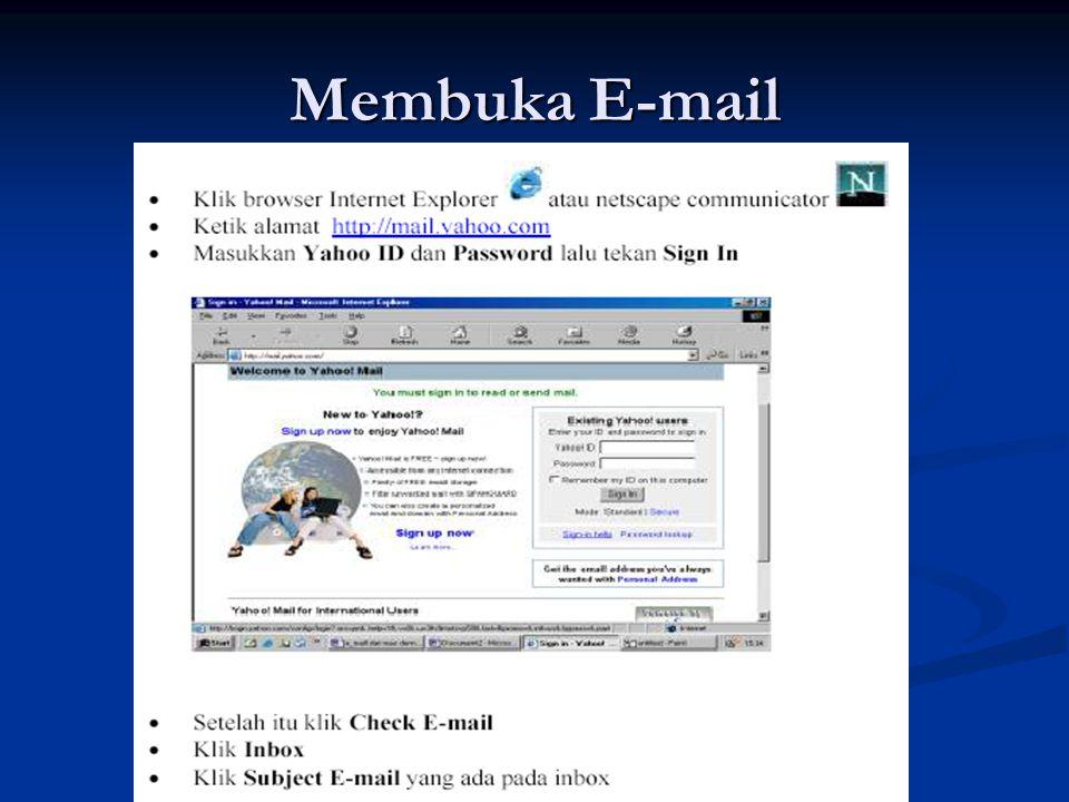 Membuka E-mail