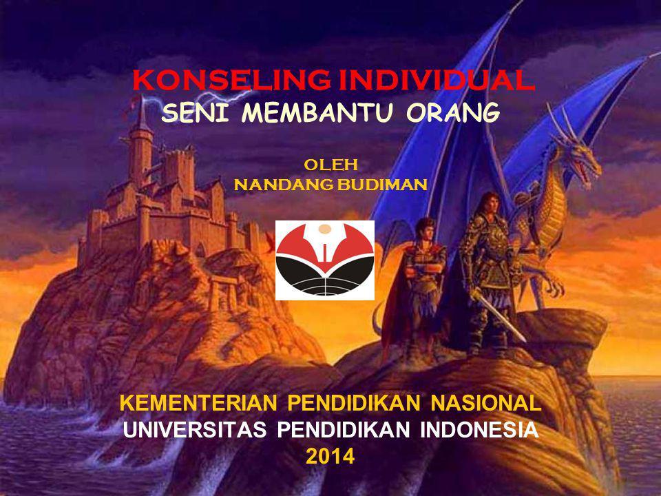 KONSELING INDIVIDUAL SENI MEMBANTU ORANG OLEH NANDANG BUDIMAN KEMENTERIAN PENDIDIKAN NASIONAL UNIVERSITAS PENDIDIKAN INDONESIA 2014