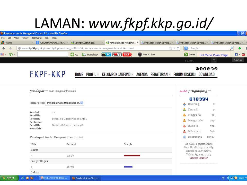 LAMAN: www.fkpf.kkp.go.id/