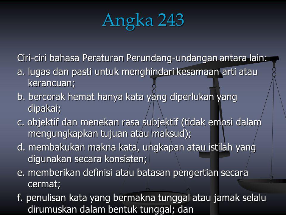 Angka 243 (lanjutan) g.