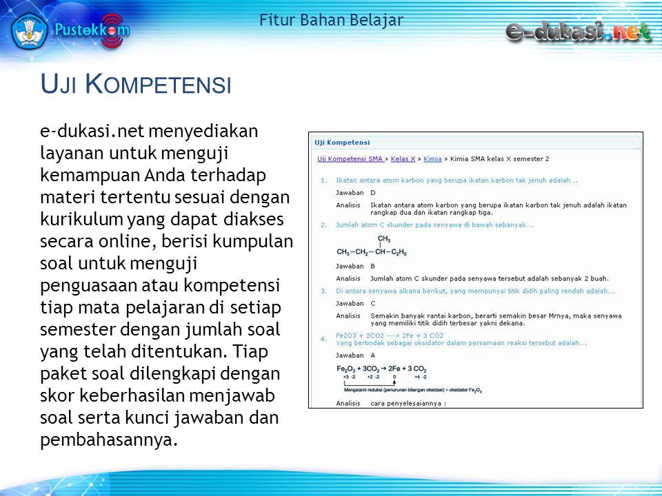 M ULTIMEDIA I NTERAKTIF Berisi katalog program multimedia interaktif yang diproduksi oleh Pustekkom Depdiknas.