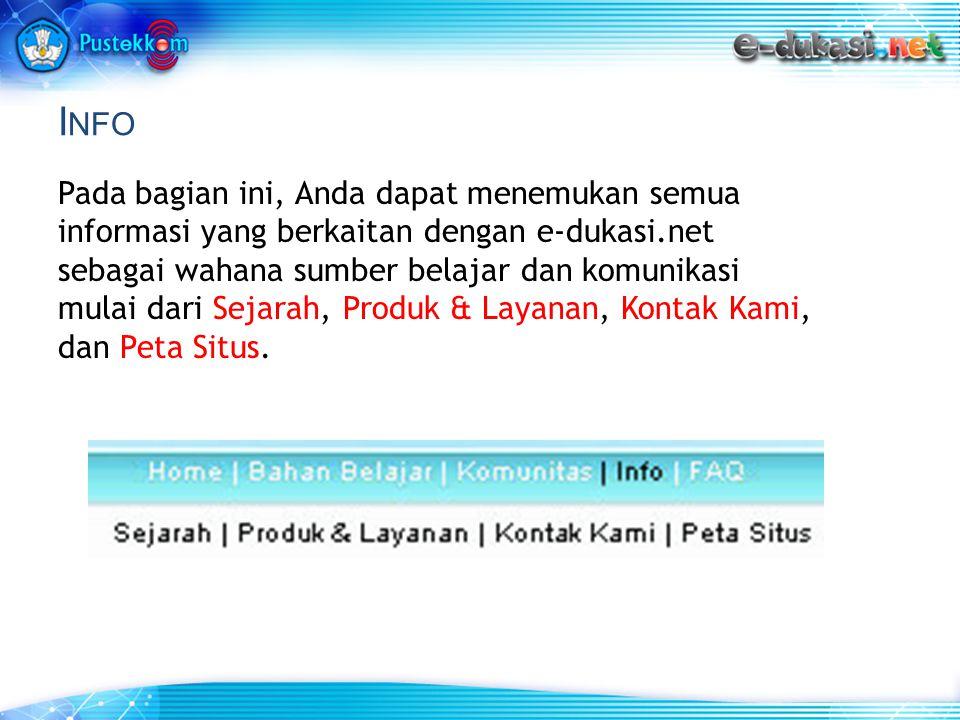 Sejarah Bagi Anda yang ingin mengetahui informasi sejarah e-dukasi.net dapat mengklik Sejarah.