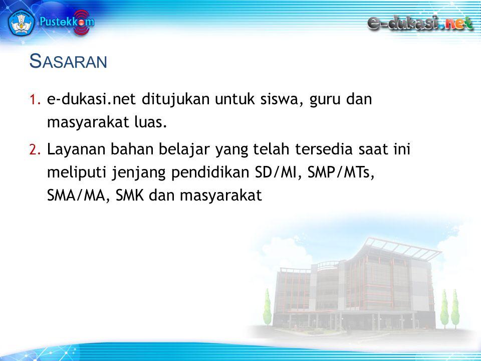 S ASARAN 1.e-dukasi.net ditujukan untuk siswa, guru dan masyarakat luas.