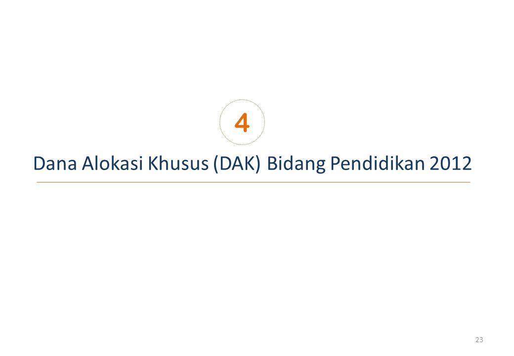 Dana Alokasi Khusus (DAK) Bidang Pendidikan 2012 4 23