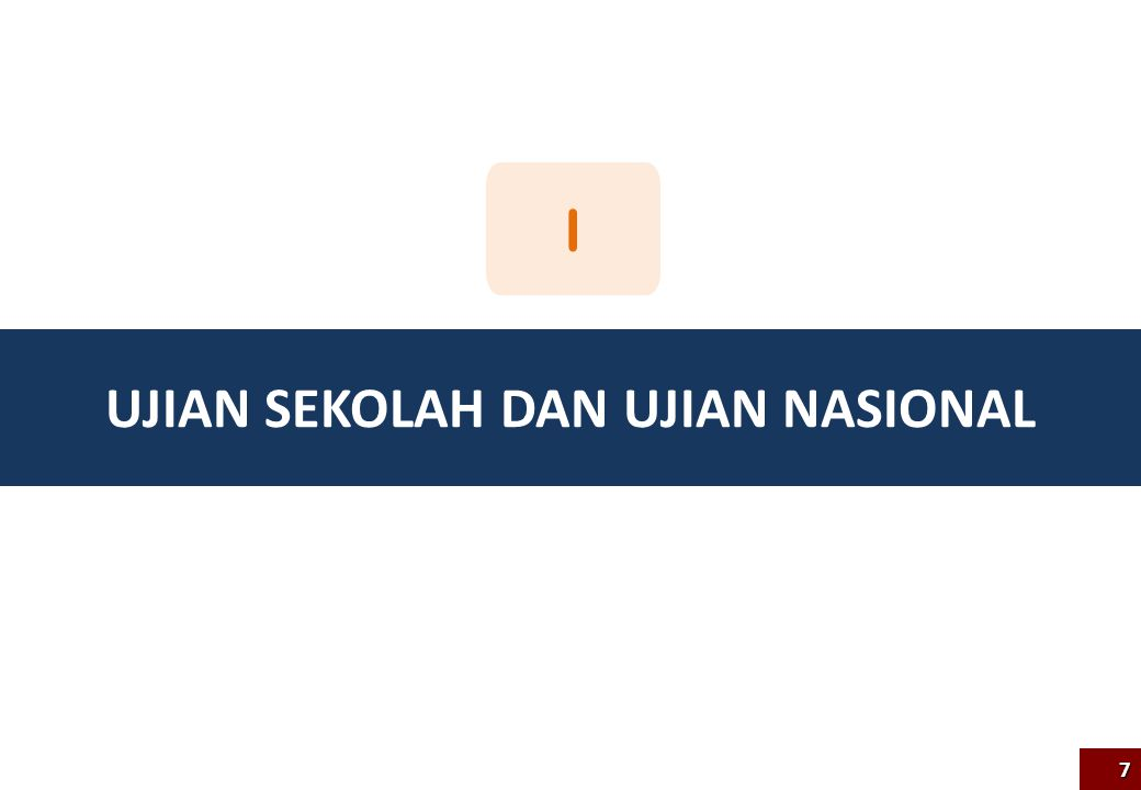 Sistematika 8 B.1 Pemetaan Tingkat Nasional Pemanfaatan Hasil UN 2012/2013 B Pentingnya UN A B.3 Pembinaan dan Intervensi Kebijakan B.2 Pemetaan Tingkat Provinsi, Kabupaten/Kota dan Satuan Pendidikan