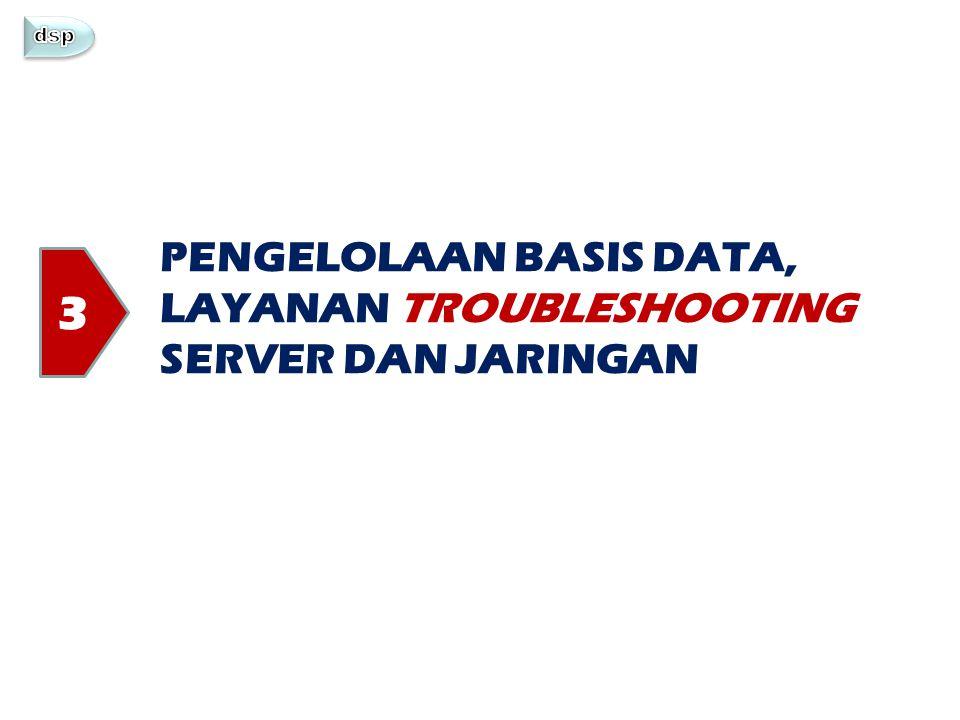 PENGELOLAAN BASIS DATA, LAYANAN TROUBLESHOOTING SERVER DAN JARINGAN 3