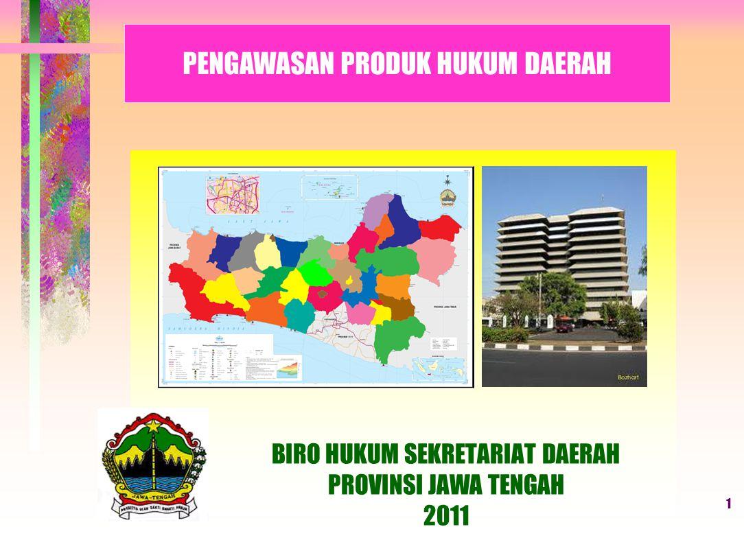 11 Pasal 157 UU Nomor 28 Tahun 2009 (Evaluasi Raperda tentang PDRD) Raperda K/K - PDRD GUBERNUR (koordinasi dengan Menkeu) 3 HARI MENTERI KEUANGAN BUPATI/WALIKOTA 15 HARI EVALUASI SESUAI DENGAN KEPENTINGAN UMUM DAN/ATAU PERATURAN YANG LEBIH TINGGI PersetujuanPenolakan DitetapkanDiperbaiki Disampaikan kepada Gubernur dan Menkeu