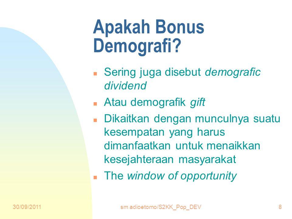 30/09/2011sm adioetomo/S2KK_Pop_DEV8 Apakah Bonus Demografi.