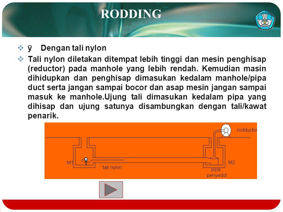 PROSES PENGELUARAN AIR KOTOR  Dengan cara memasukan pass through kedalam pipa duct yang digunakan untuk mengeluarkan air kotor dansisa kotoran dalam
