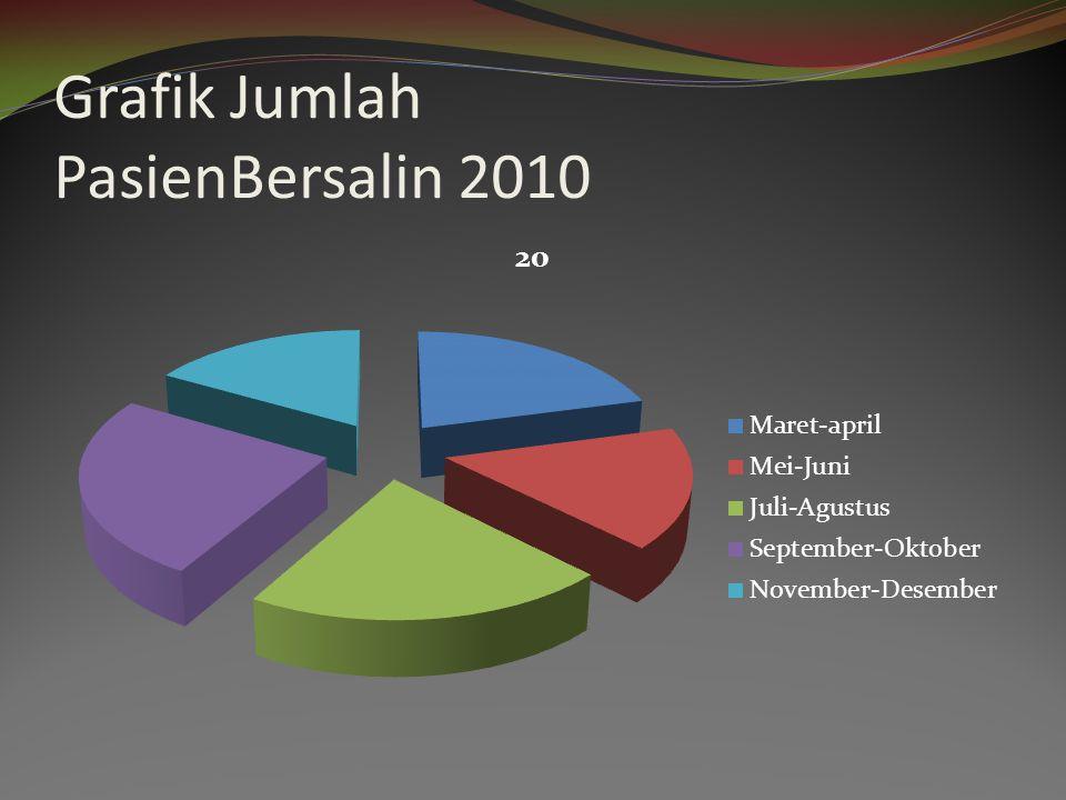 Grafik Jumlah PasienBersalin 2010