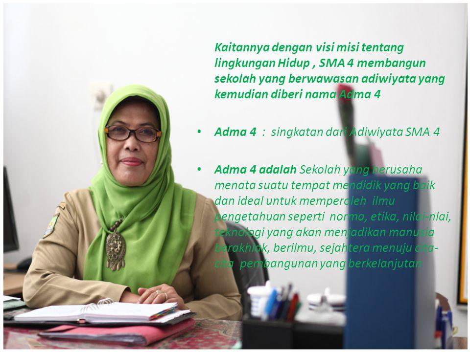 Adma 4 dirintis Sejak 2010 dan tahun-tahun akan datang, telah, sedang dan akan terus mengembangkan Program Sekolah Adiwiyata.