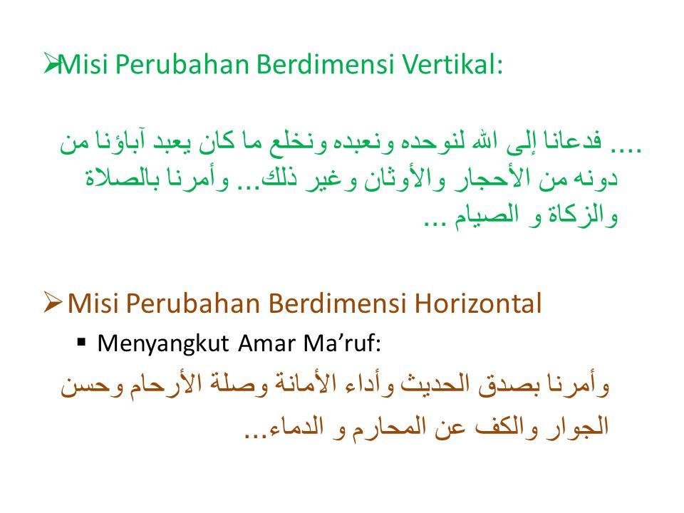 Misi Perubahan Berdimensi Vertikal:....