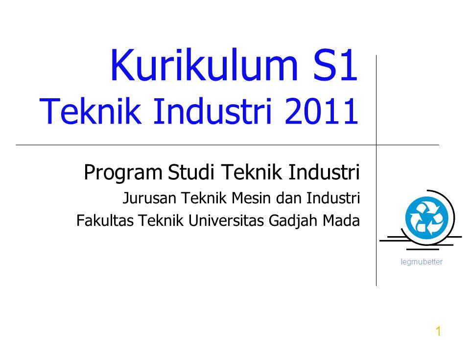 Iegmubetter 1 Kurikulum S1 Teknik Industri 2011 Program Studi Teknik Industri Jurusan Teknik Mesin dan Industri Fakultas Teknik Universitas Gadjah Mada