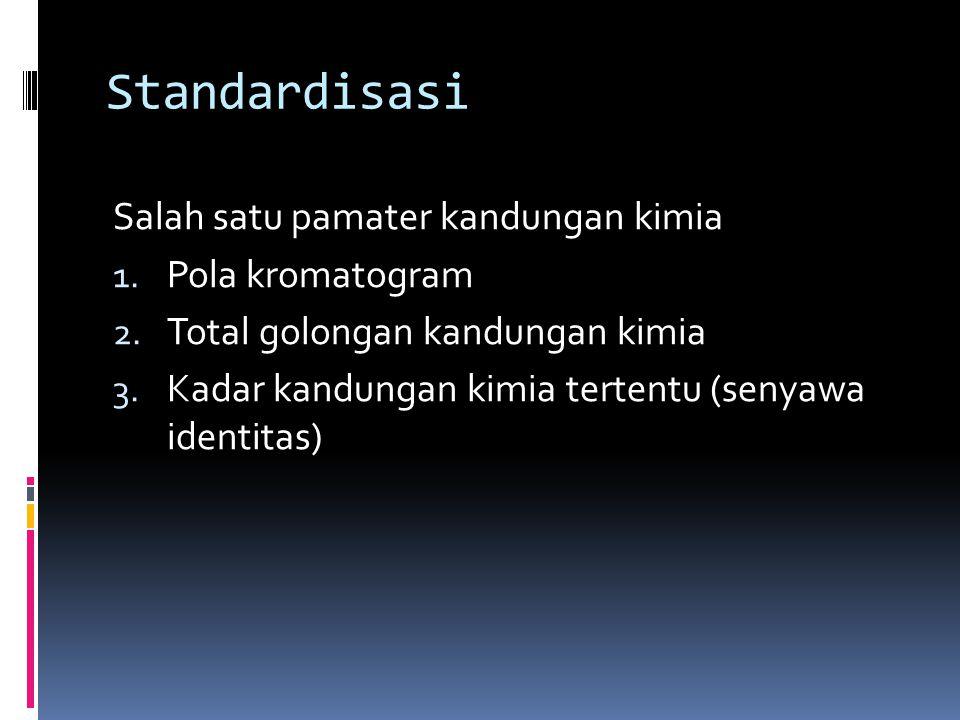 Standardisasi Salah satu pamater kandungan kimia 1.