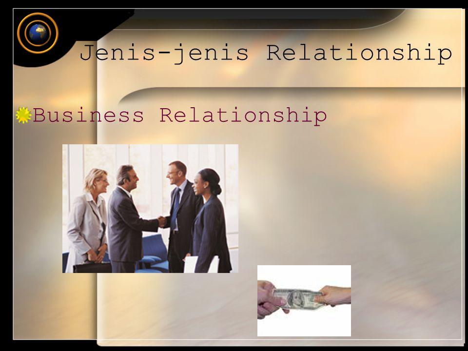 Business Relationship Jenis-jenis Relationship