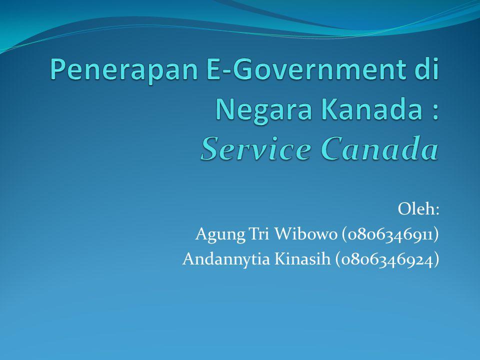 Oleh: Agung Tri Wibowo (0806346911) Andannytia Kinasih (0806346924)