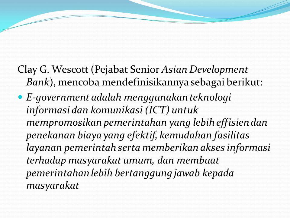 4 tingkatan e-gov Tingkat pertama adalah pemerintah mempublikasikan informasi melalui website.