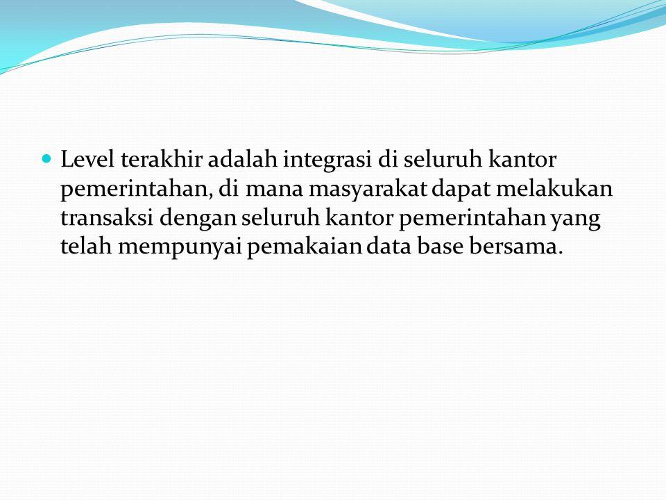 Tugas Mengangkat contoh aplikasi sistem keberhasilan e- government baik di Indonesia atau juga luar negeri (boleh analisis+ditampilkan situsnya) Dipresentasikan sabtu jam 9