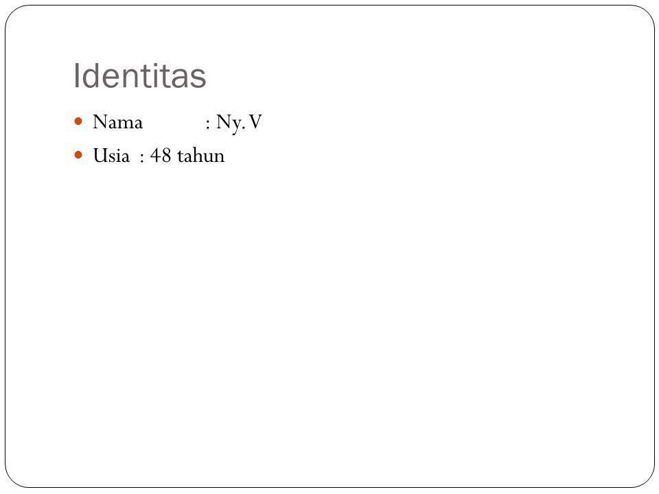 Identitas Nama: Ny. V Usia: 48 tahun