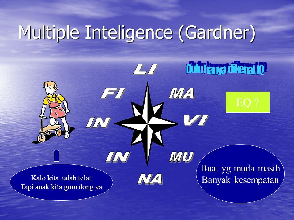 Multiple Inteligence (Gardner) Kalo kita udah telat Tapi anak kita gmn dong ya Buat yg muda masih Banyak kesempatan EQ