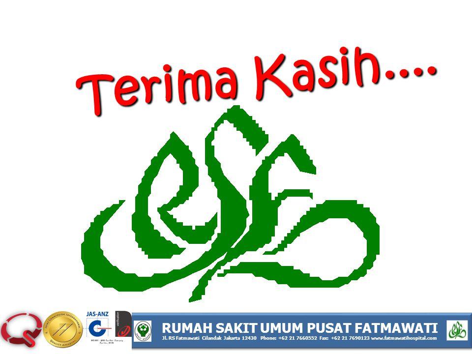 ISO 9001 : 2008 Certified Company Cert No : 30108 RUMAH SAKIT UMUM PUSAT FATMAWATI Jl. RS Fatmawati Cilandak Jakarta 12430 Phone: +62 21 7660552 Fax: