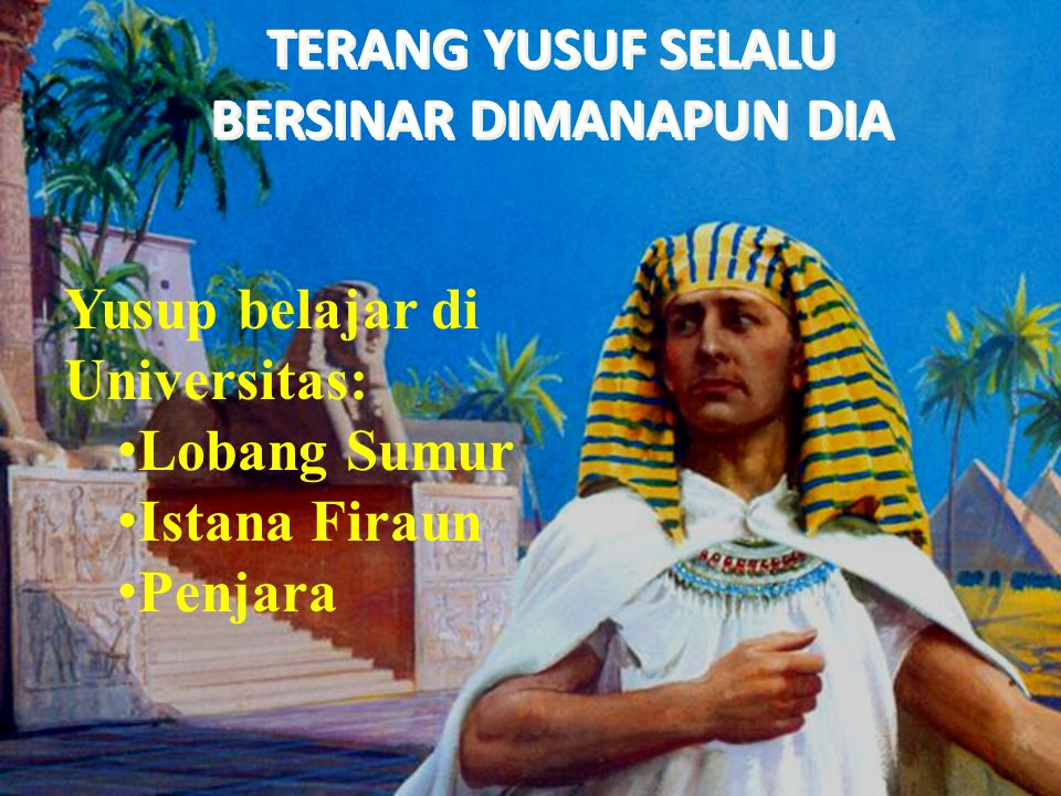 Yusuf dipasar budak dan dibeli Oleh Potifar.