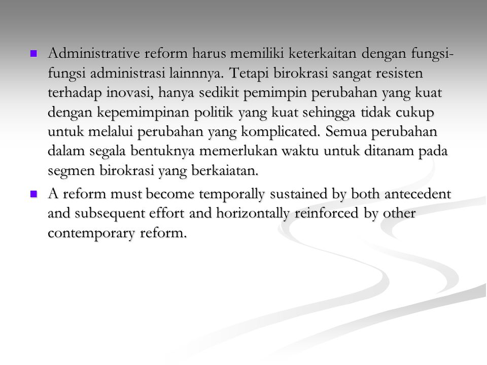 administrative reform in bd What is administrative reform definition of administrative reform: modernization techniques to improve the performance of bureaucratic programs and agencies.