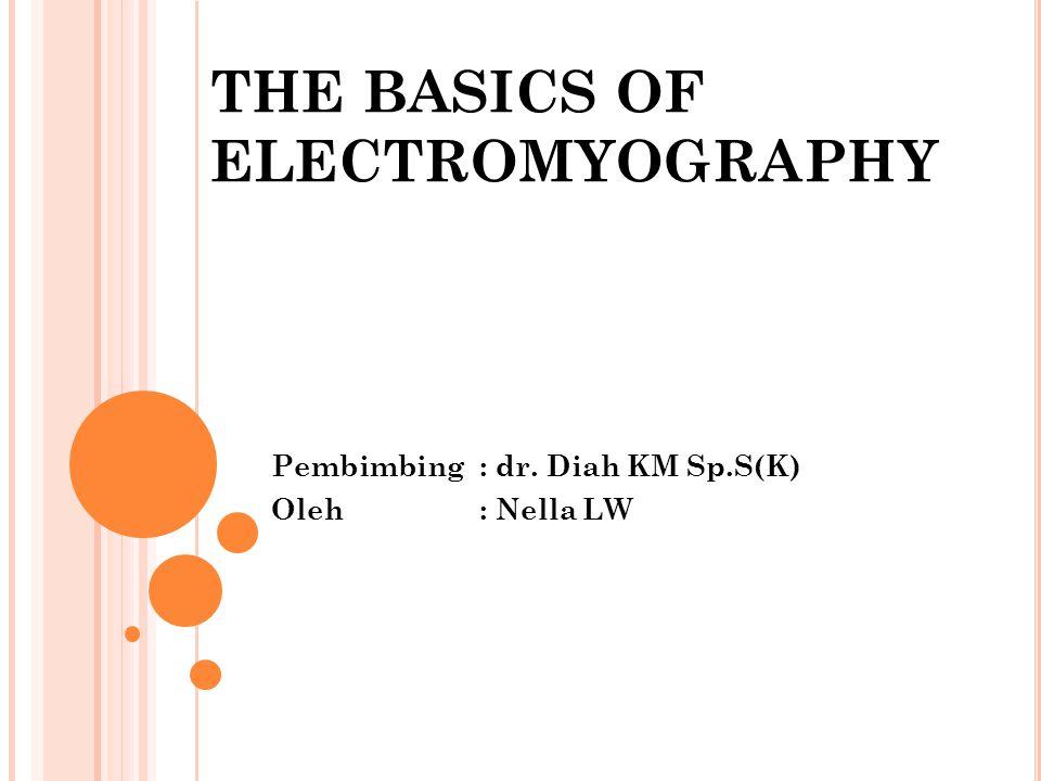 M OTOR UNIT POTENTIALS Parameter pada motor unit amplitudo, durasi, dan jumlah fase.