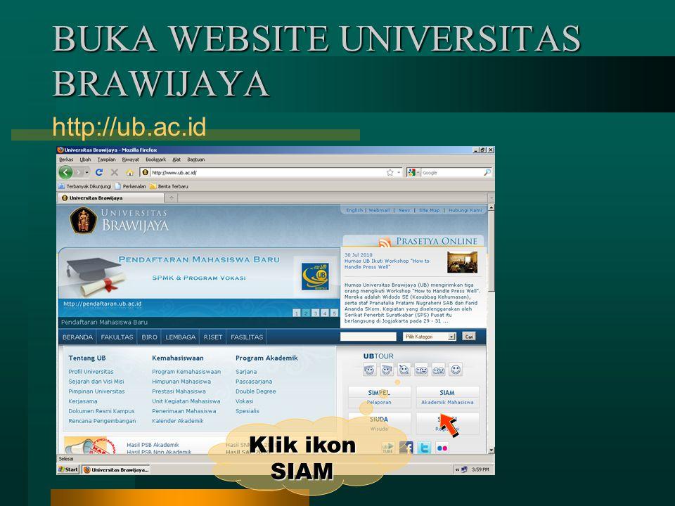 Cetak form KRS tsb sebagai panduan untuk mengisi KRS secara Online