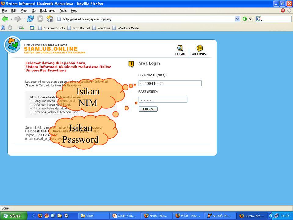 BUKA WEBSITE UNIVERSITAS BRAWIJAYA http://ub.ac.id Klik ikon SIAM