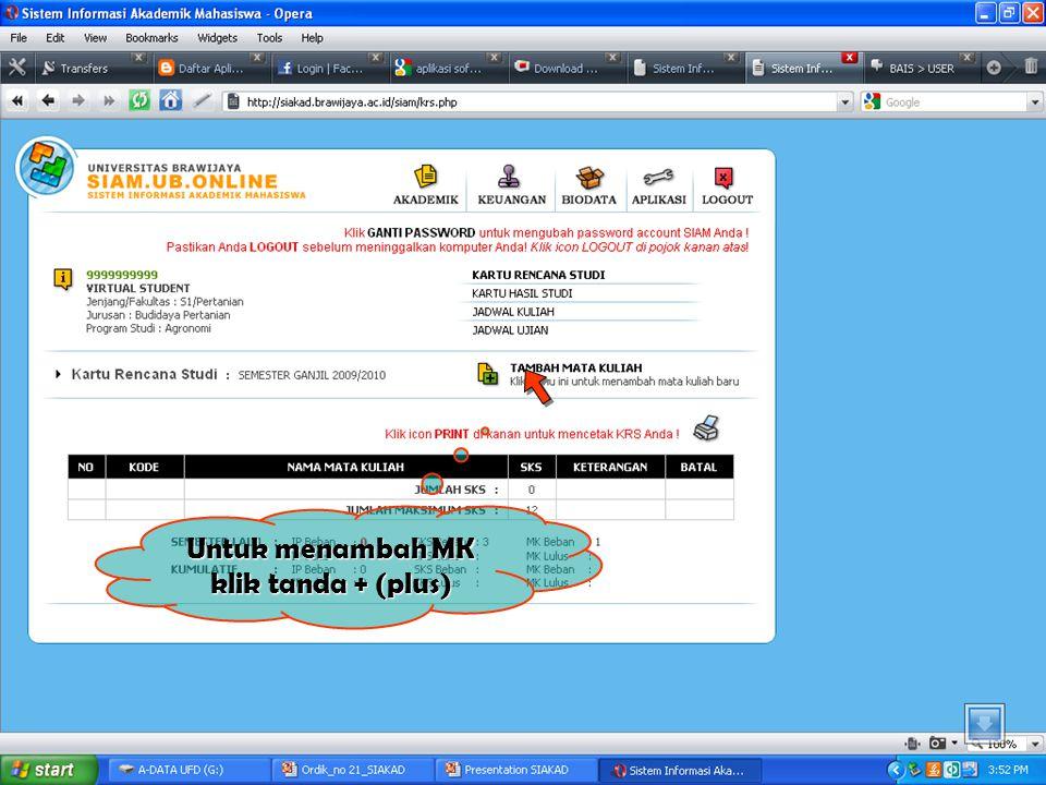 Isikan NIM 05100410001 ******** Isikan Password