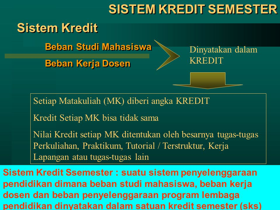 14 Contoh Perhitungan IP Si A  nilai MK 1 (3 sks) = C+ (2,5)  nilai x kredit = 7,5  nilai MK 2 (3 sks) = C (2,0)  nilai x kredit = 6,0  nilai MK 3 (4 sks) = D+ (1,5)  nilai x kredit = 6,0  nilai MK 4 (3 sks) = B+ (3,5)  nilai x kredit = 10,5  nilai MK 5 (2 sks) = B (3,0)  nilai x kredit = 6,0  nilai MK 6 (3 sks) = A (4,0)  nilai x kredit = 12,0 Jumlah 18 sks  nilai x kredit = 48 Si A  nilai MK 1 (3 sks) = C+ (2,5)  nilai x kredit = 7,5  nilai MK 2 (3 sks) = C (2,0)  nilai x kredit = 6,0  nilai MK 3 (4 sks) = D+ (1,5)  nilai x kredit = 6,0  nilai MK 4 (3 sks) = B+ (3,5)  nilai x kredit = 10,5  nilai MK 5 (2 sks) = B (3,0)  nilai x kredit = 6,0  nilai MK 6 (3 sks) = A (4,0)  nilai x kredit = 12,0 Jumlah 18 sks  nilai x kredit = 48 IP = 48 : 18 = 2,67 INDEKS PRESTASI (IP)