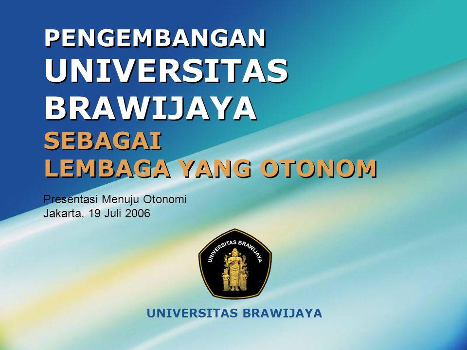 PENGEMBANGAN UNIVERSITAS BRAWIJAYA SEBAGAI LEMBAGA YANG OTONOM UNIVERSITAS BRAWIJAYA Presentasi Menuju Otonomi Jakarta, 19 Juli 2006