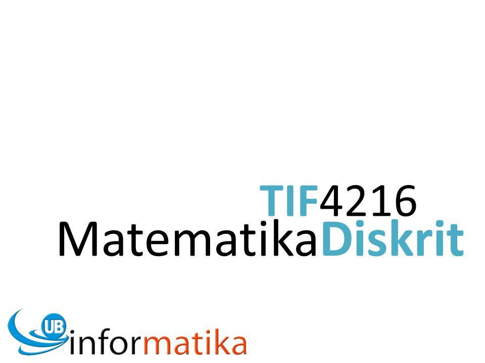MatematikaDiskrit TIF4216