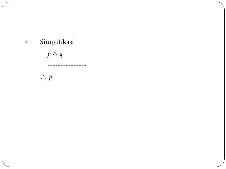 42 4. Simplifikasi p  q ---------------  p