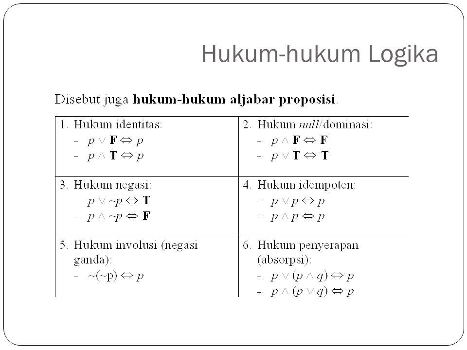 Hukum-hukum Logika 5
