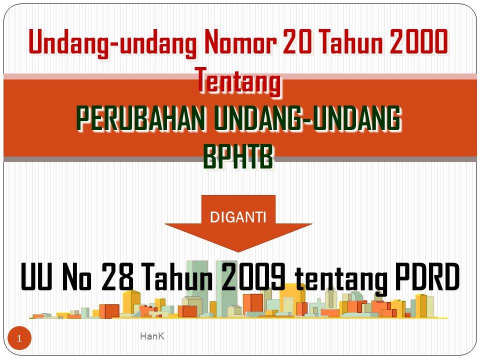 Undang-undang Nomor 20 Tahun 2000 Tentang PERUBAHAN UNDANG-UNDANG BPHTB Undang-undang Nomor 20 Tahun 2000 Tentang PERUBAHAN UNDANG-UNDANG BPHTB UU No