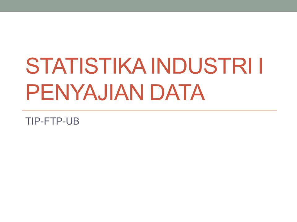 STATISTIKA INDUSTRI I PENYAJIAN DATA TIP-FTP-UB
