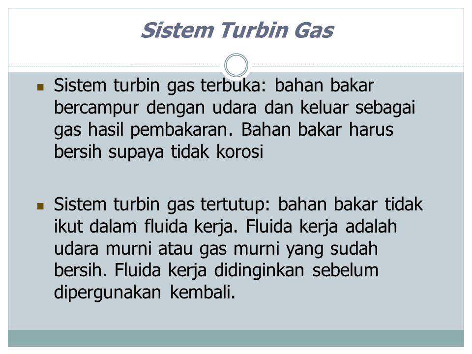 Aplikasi Turbin Gas Penggerak sistem Propulsi (pesawat terbang, kapal laut) Pembangkit tenaga listrik Penyedia panas di industri Dibandingkan dengan motor bakar, turbin gas: Penghasil daya yang lebih besar konsumsi bahan bakar yang lebih boros berat dan ukuran yang jauh lebih besar