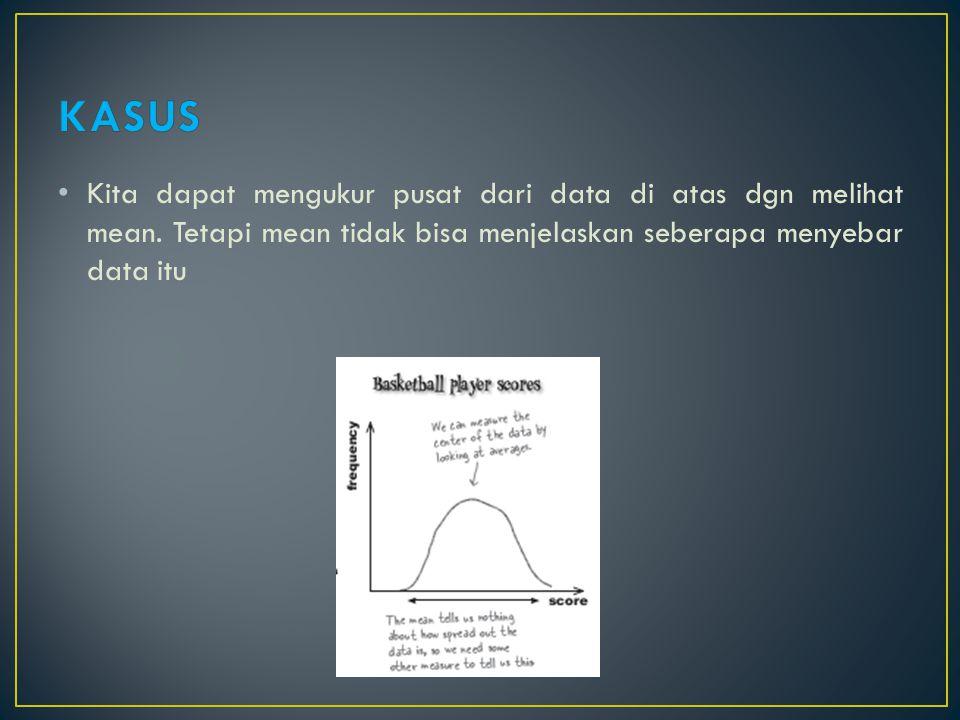 Salah satu ukuran sebaran data (variabilitas) adalah jangkauan.
