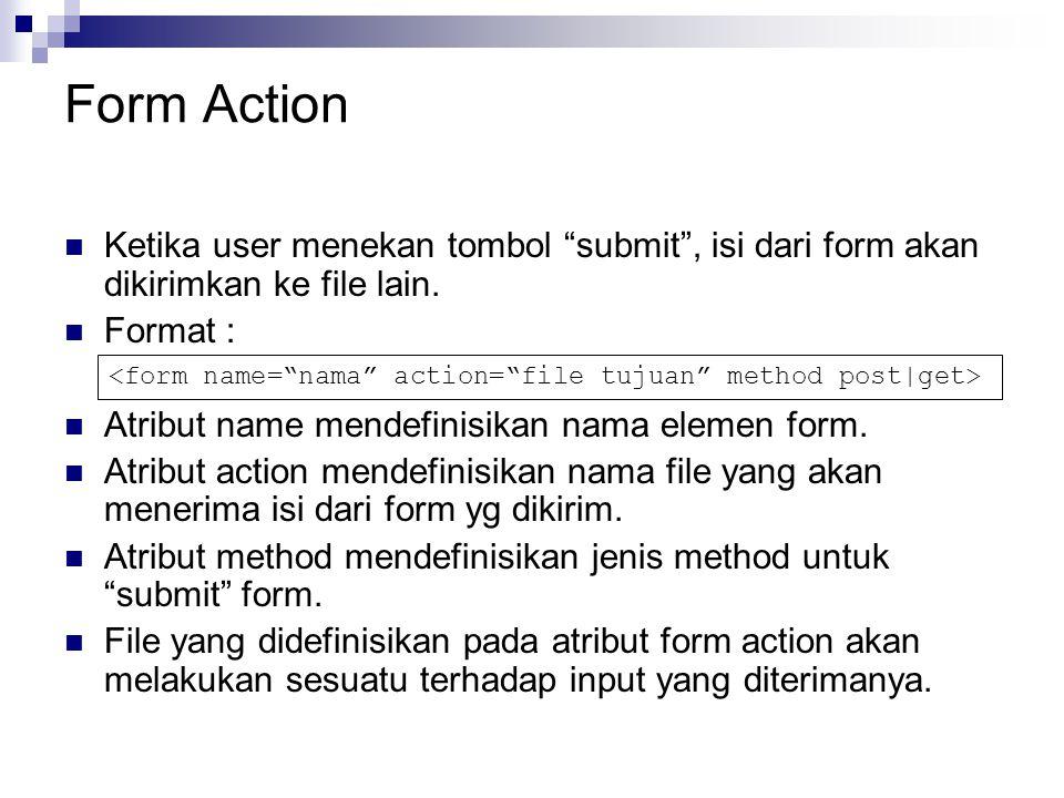 Username: Password : Contoh : Tampilan pada browser :