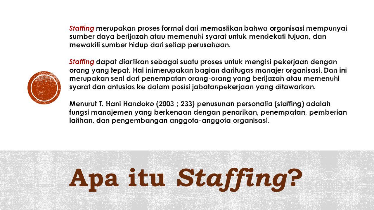 Apa itu Staffing ?