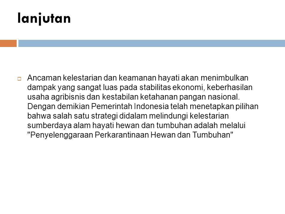 LANJUTAN  Karena Indonesia sudah menjadi anggota WTO, maka Indonesia harus berupaya terus mempelajari ketentuan-ketentuan yang berlaku dalam perjanjian SPS tersebut dan sekaligus mencari celah-celah yang dapat dimanfaatkan untuk dapat lebih memperkuat daya saing.